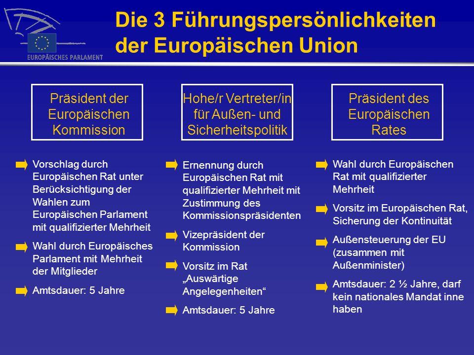 Die 3 Führungspersönlichkeiten der Europäischen Union