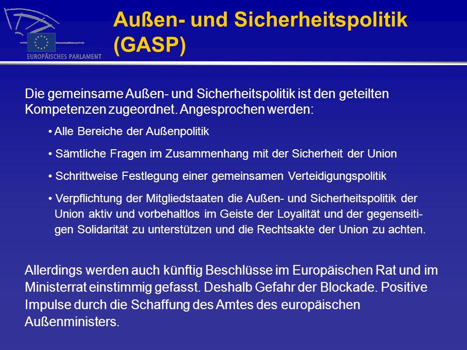 Außen- und Sicherheitspolitik (GASP)
