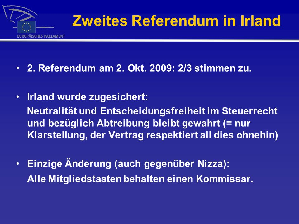 Zweites Referendum in Irland