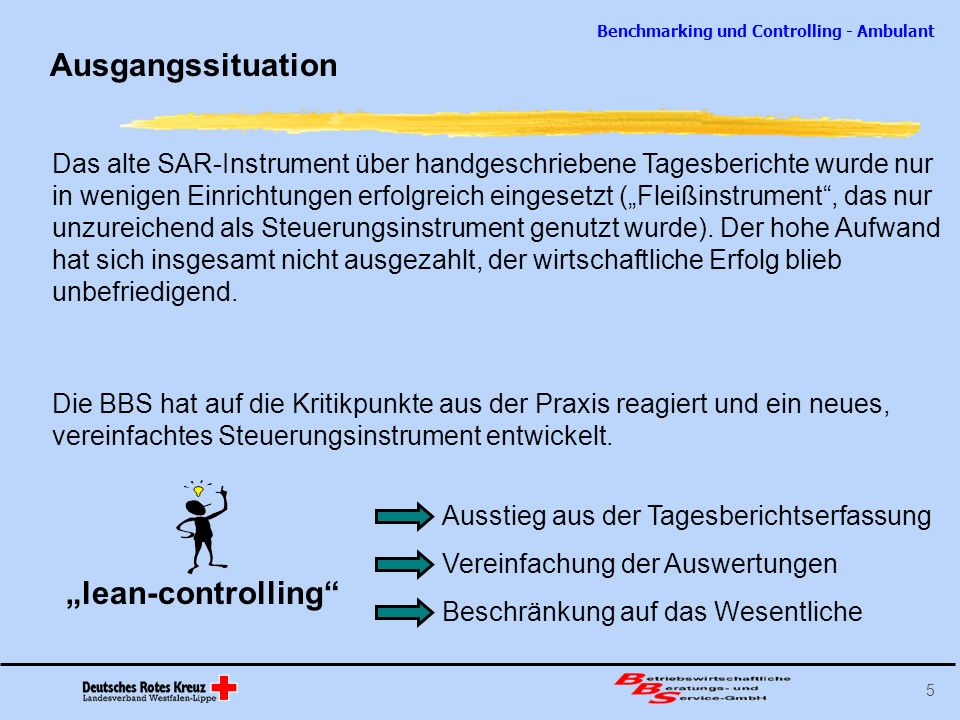 "Ausgangssituation ""lean-controlling"