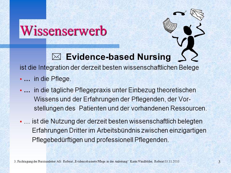 Wissenserwerb  Evidence-based Nursing