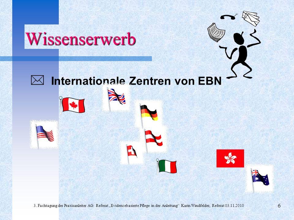 Wissenserwerb  Internationale Zentren von EBN