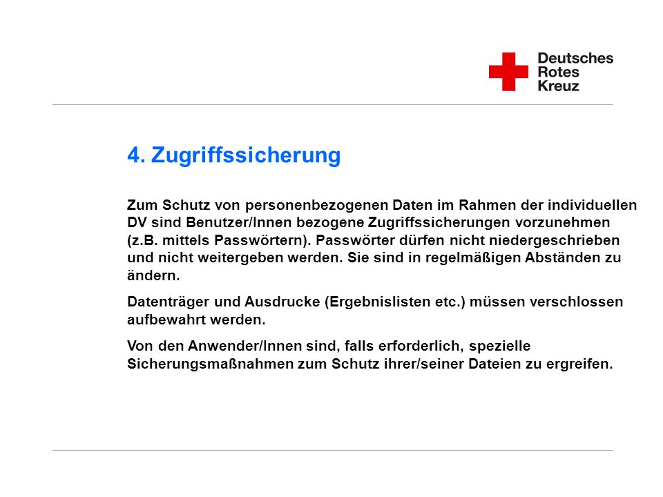 4. Zugriffssicherung