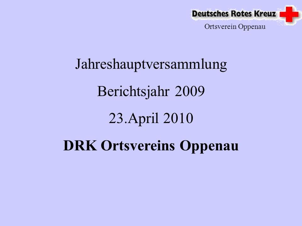 Jahreshauptversammlung Berichtsjahr 2009 23.April 2010