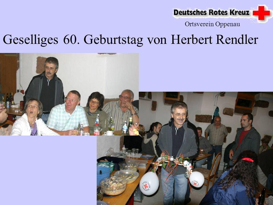 Geselliges 60. Geburtstag von Herbert Rendler