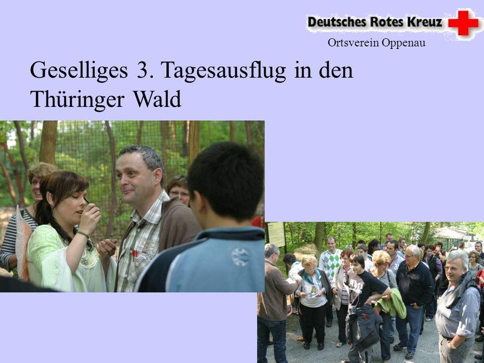 Geselliges 3. Tagesausflug in den Thüringer Wald