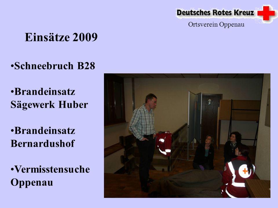 Einsätze 2009 Schneebruch B28 Brandeinsatz Sägewerk Huber