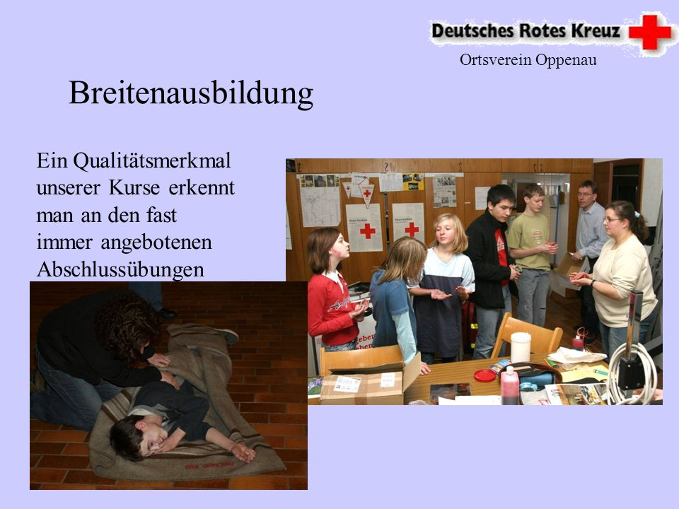 Ortsverein Oppenau Breitenausbildung.