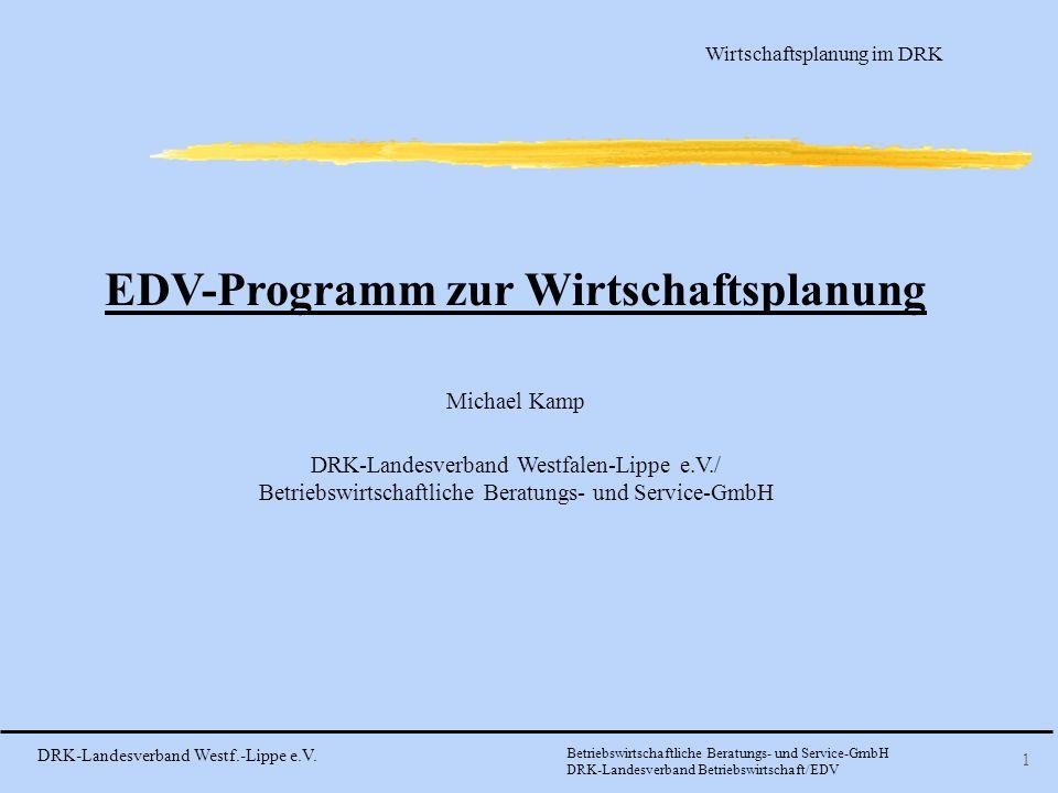 EDV-Programm zur Wirtschaftsplanung