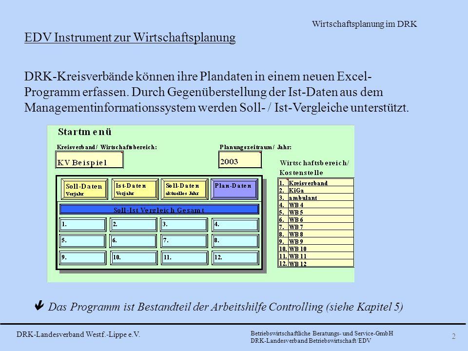EDV Instrument zur Wirtschaftsplanung