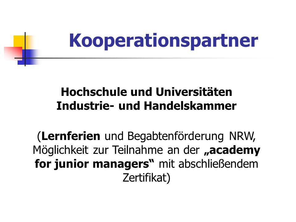 Hochschule und Universitäten Industrie- und Handelskammer