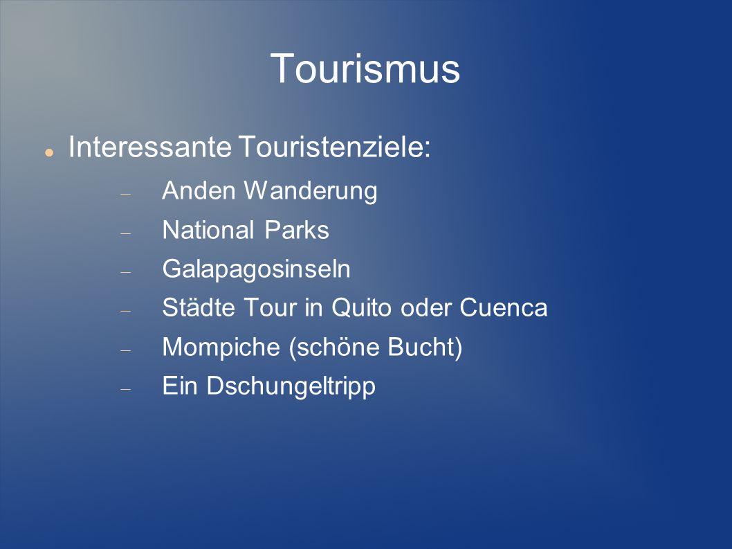 Tourismus Interessante Touristenziele: Anden Wanderung National Parks