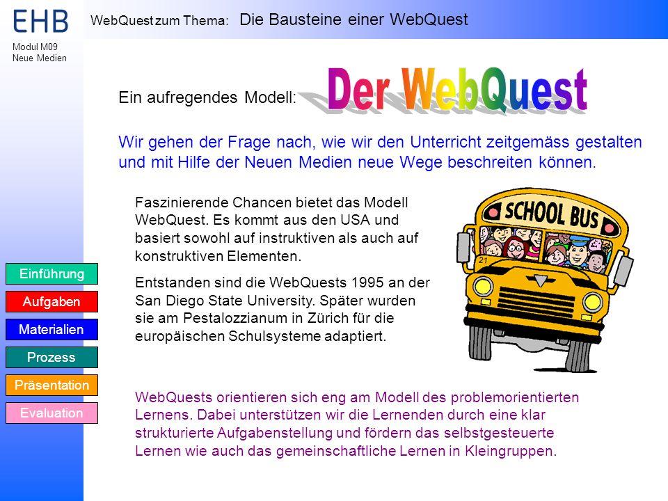 Der WebQuest Ein aufregendes Modell: