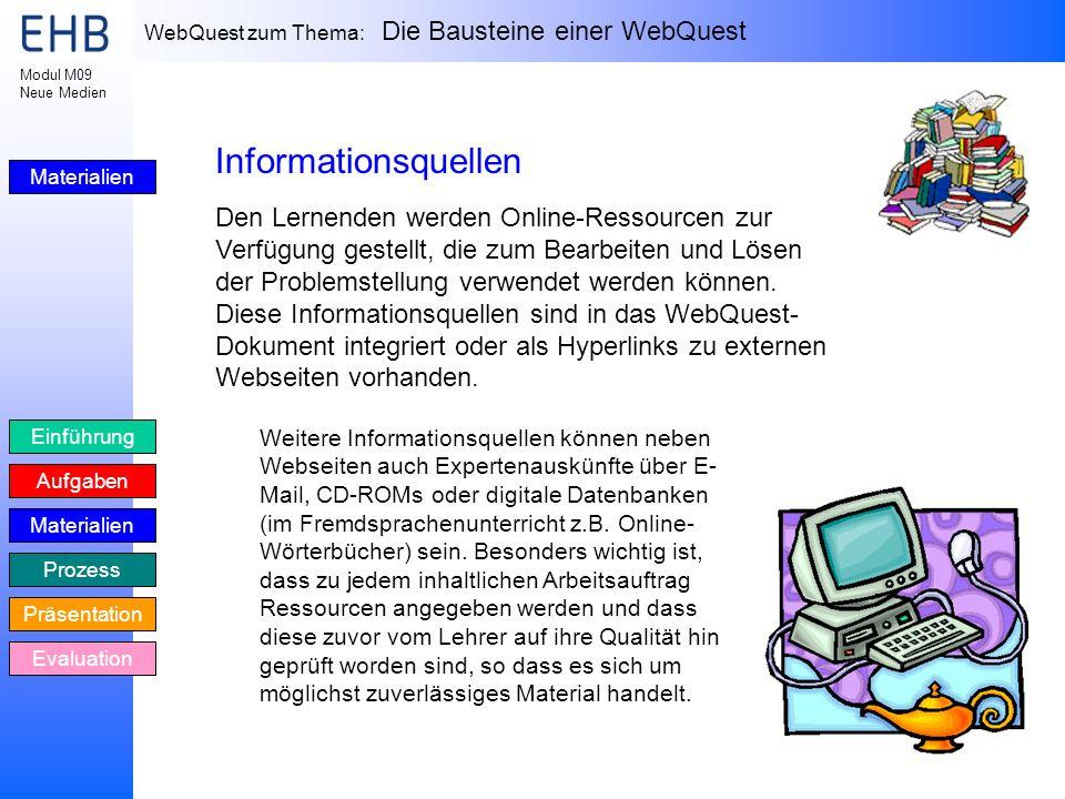 Informationsquellen Materialien.