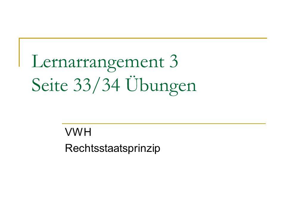 Lernarrangement 3 Seite 33/34 Übungen