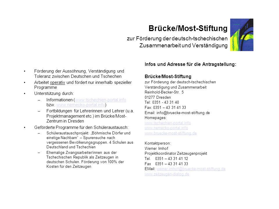 Brücke/Most-Stiftung