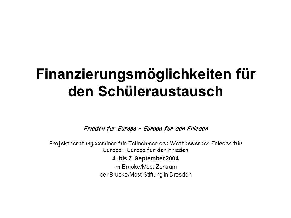 Finanzierungsmöglichkeiten für den Schüleraustausch