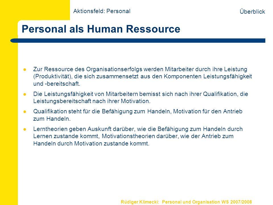 Personal als Human Ressource