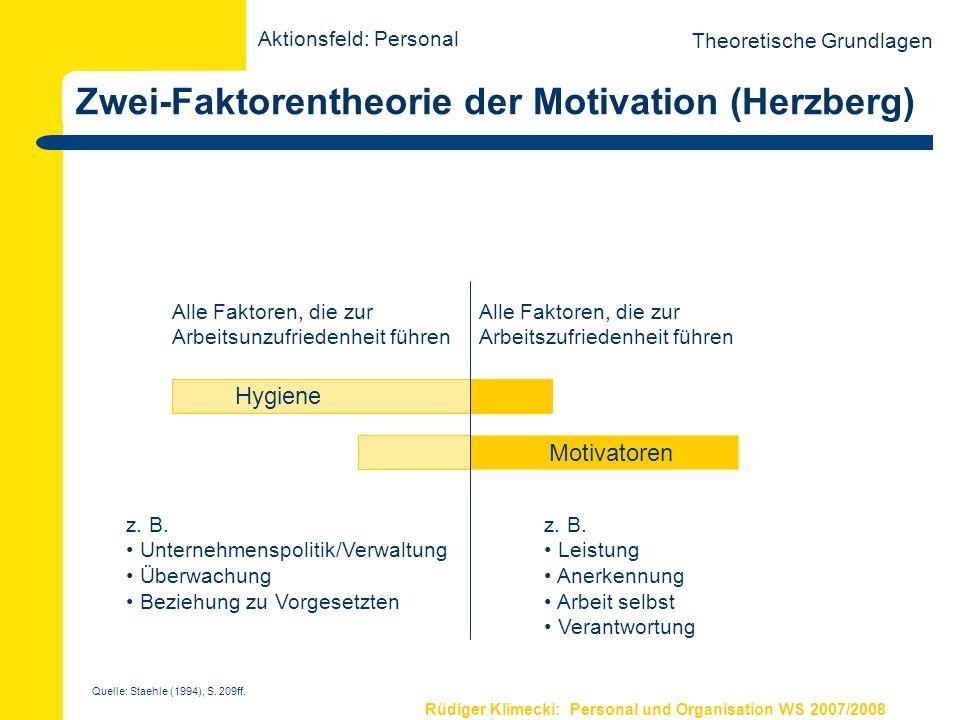 Zwei-Faktorentheorie der Motivation (Herzberg)