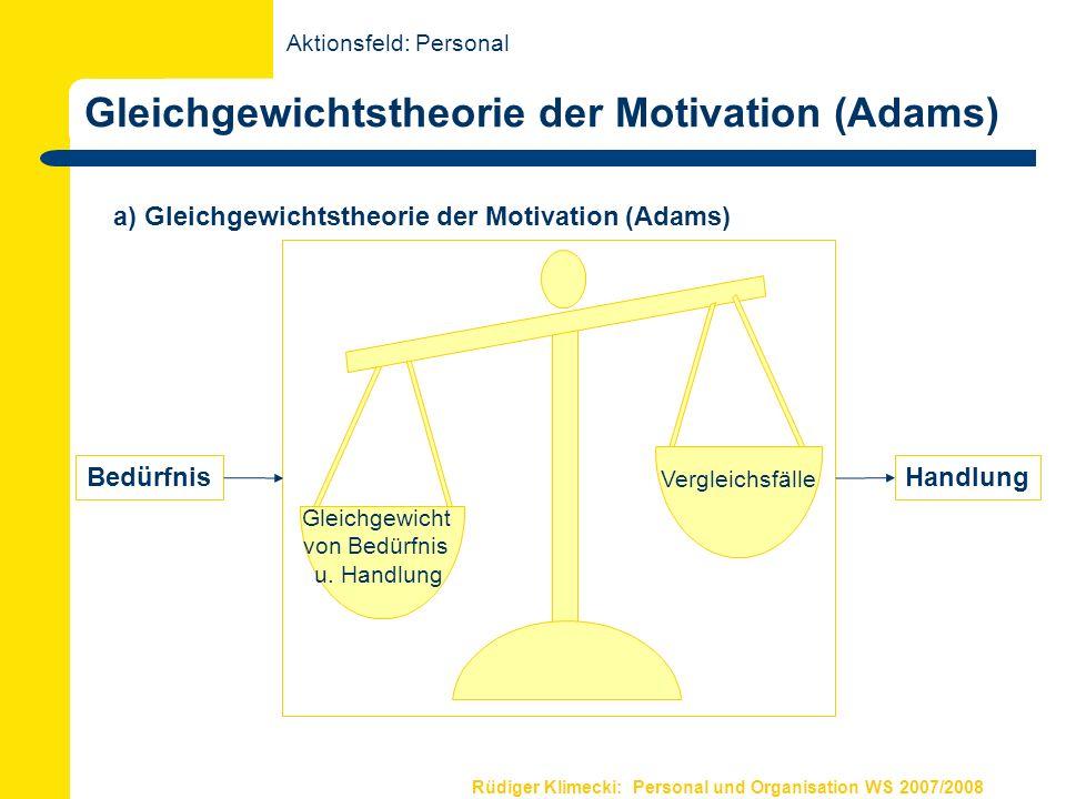 Gleichgewichtstheorie der Motivation (Adams)