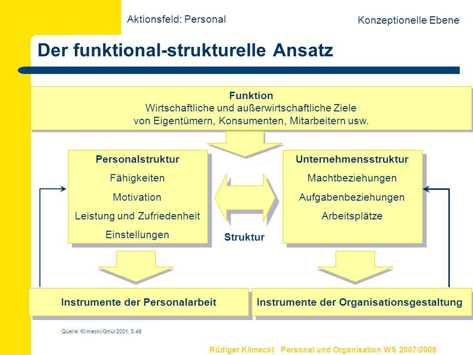Der funktional-strukturelle Ansatz