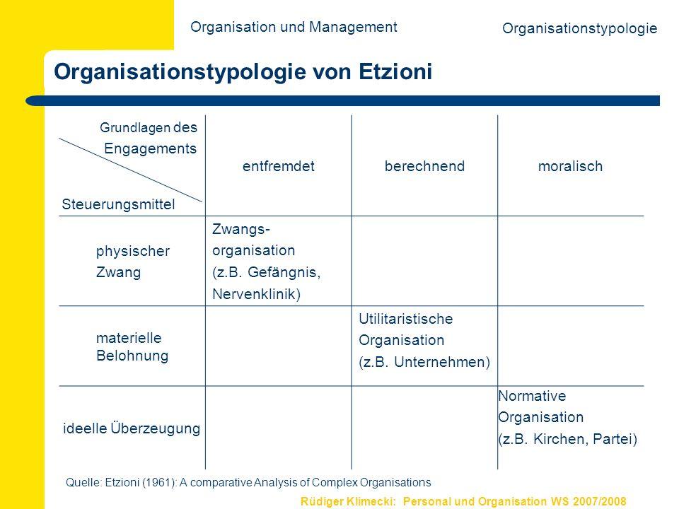 Organisationstypologie von Etzioni