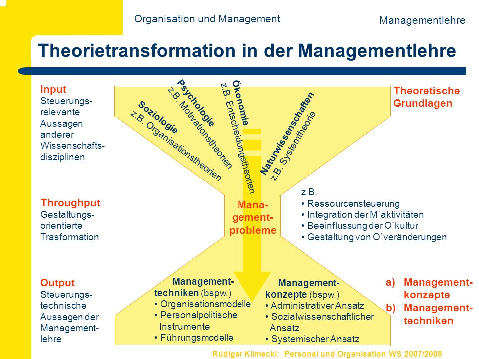 Theorietransformation in der Managementlehre