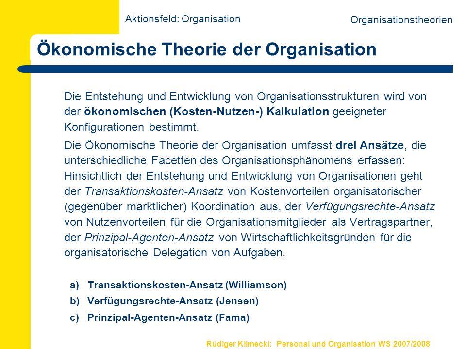 Ökonomische Theorie der Organisation