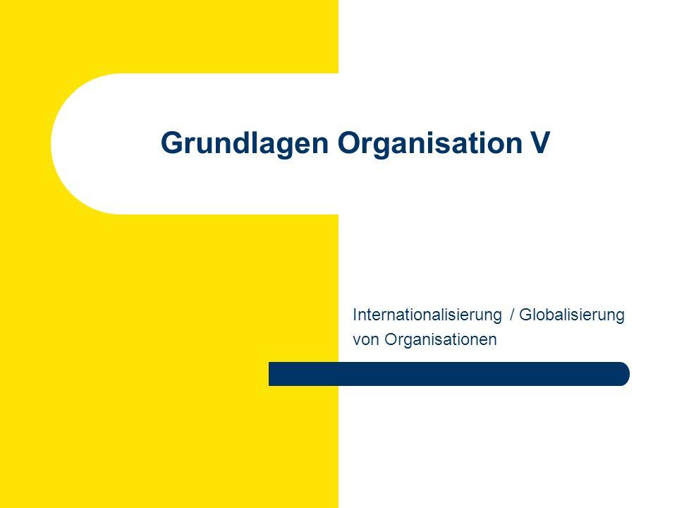 Grundlagen Organisation V