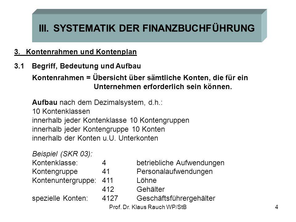 III. SYSTEMATIK DER FINANZBUCHFÜHRUNG