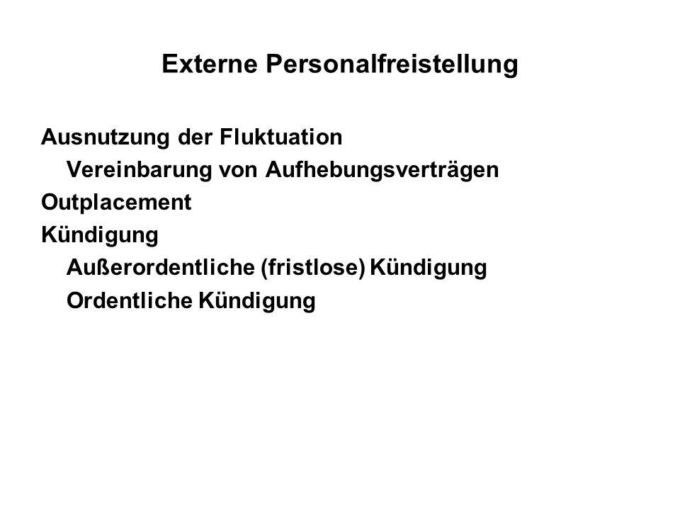 Externe Personalfreistellung