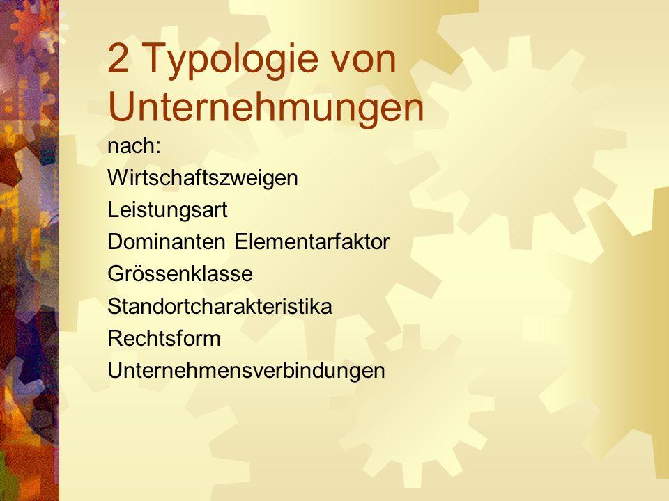 2 Typologie von Unternehmungen