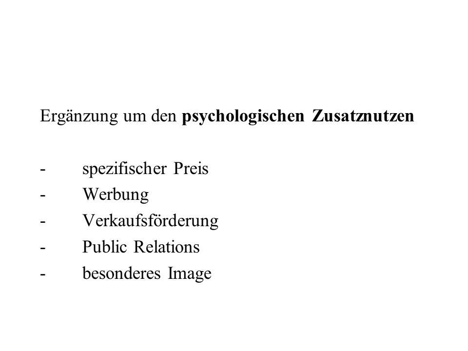 Ergänzung um den psychologischen Zusatznutzen