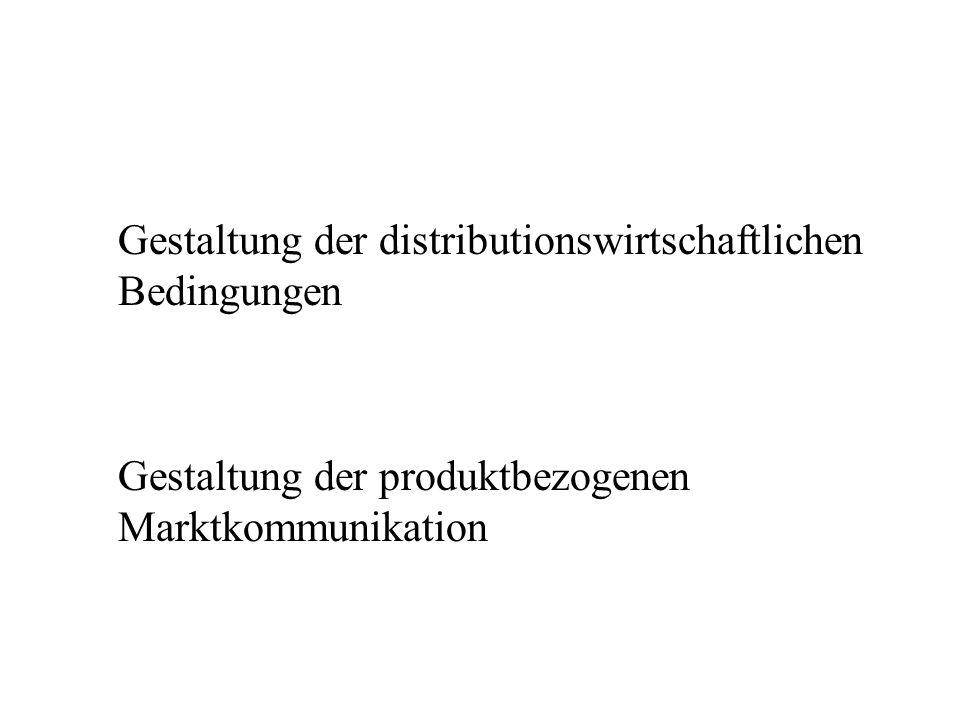 Gestaltung der distributionswirtschaftlichen Bedingungen