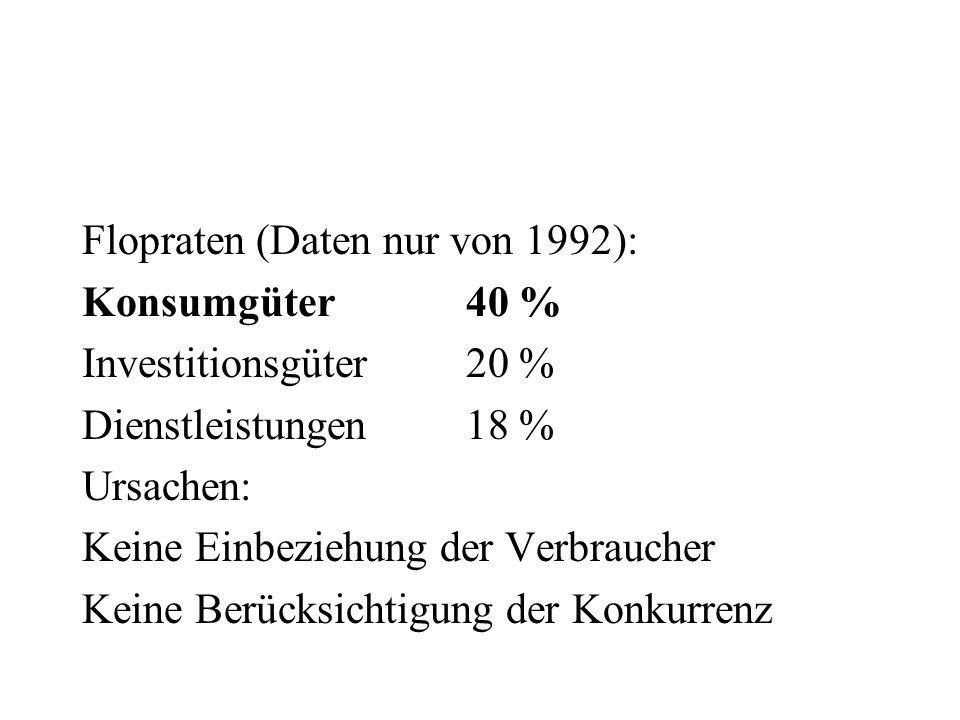 Flopraten (Daten nur von 1992):