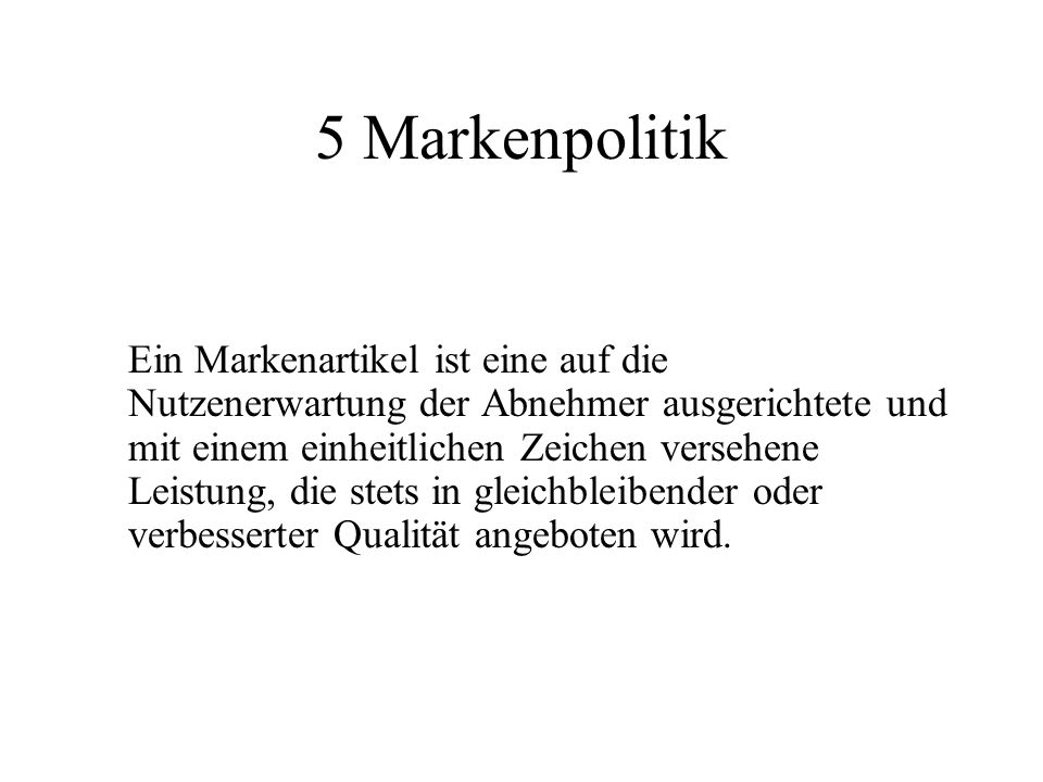 5 Markenpolitik