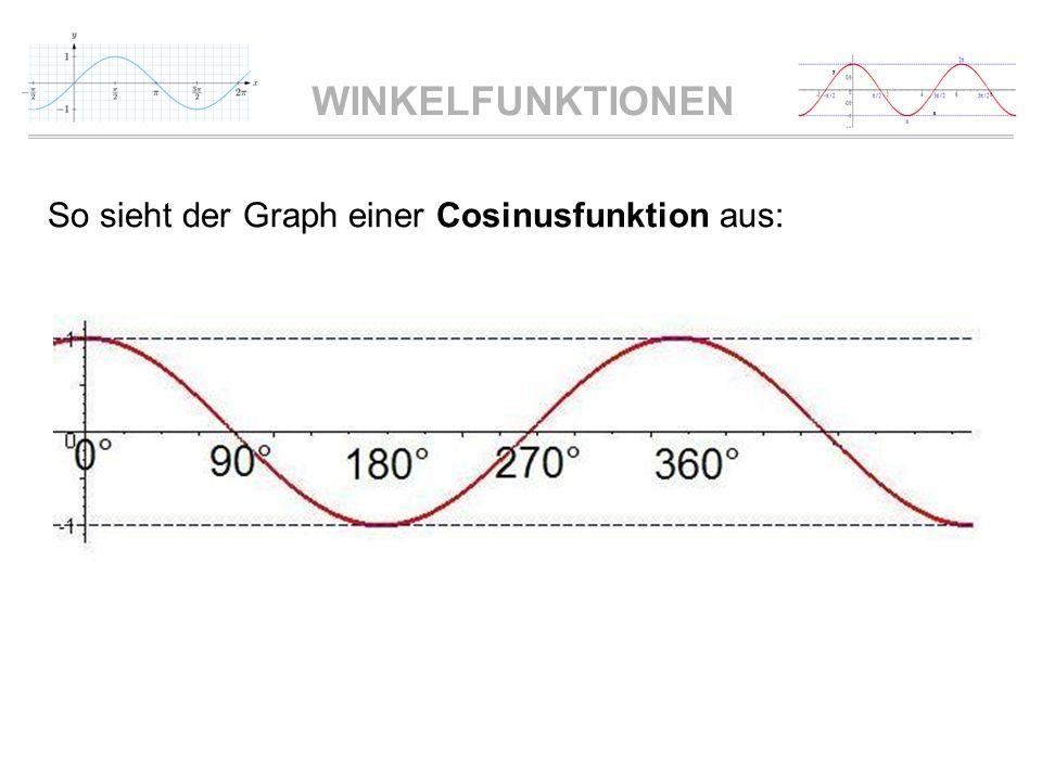 So sieht der Graph einer Cosinusfunktion aus: