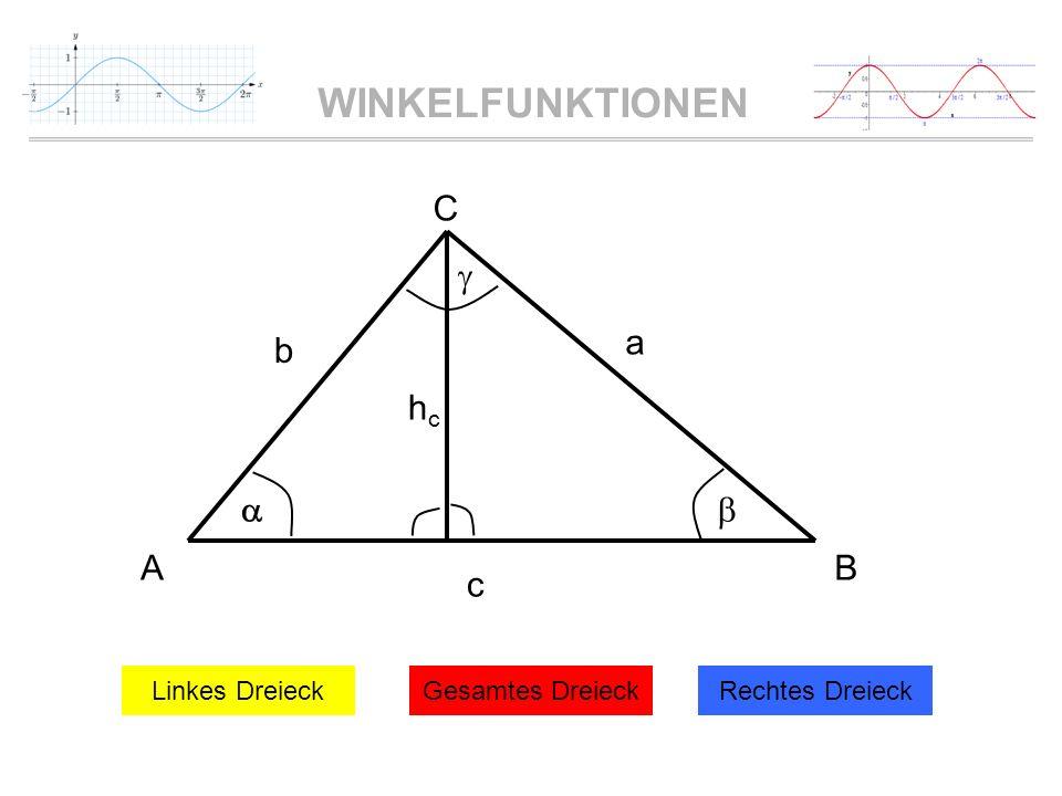c a b A B C    hc Linkes Dreieck Gesamtes Dreieck Rechtes Dreieck