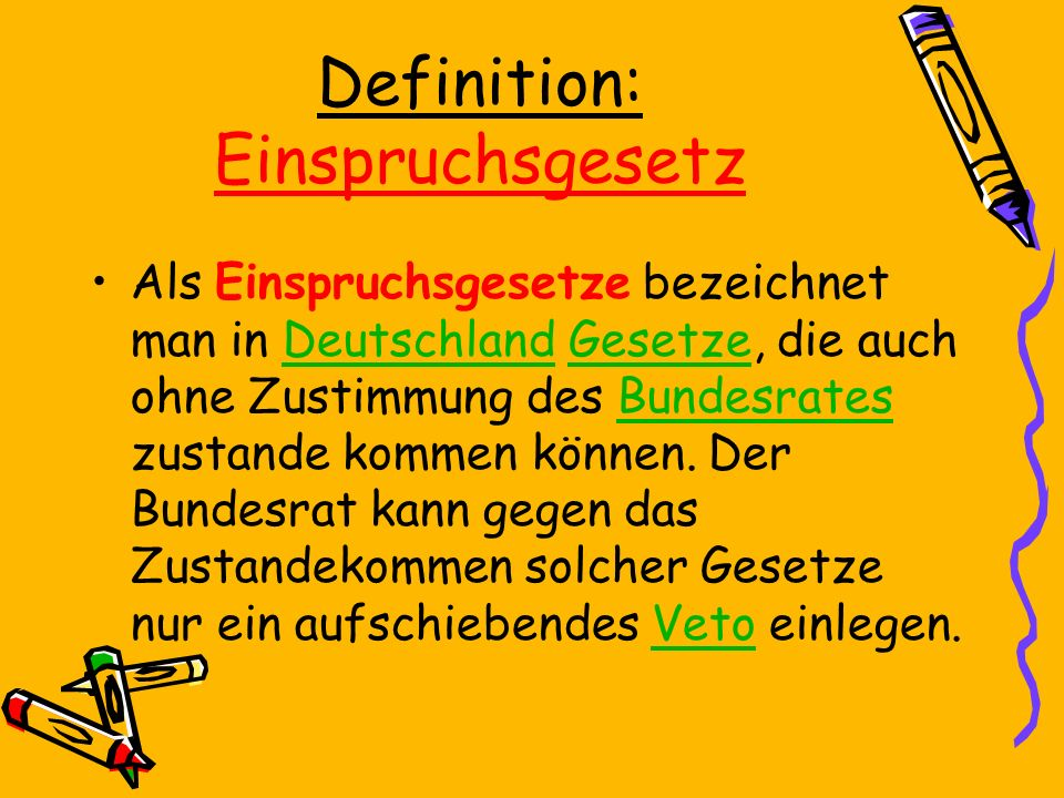 Definition: Einspruchsgesetz