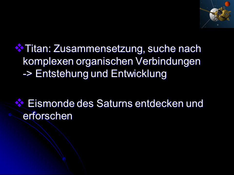Titan: Zusammensetzung, suche nach komplexen organischen Verbindungen -> Entstehung und Entwicklung