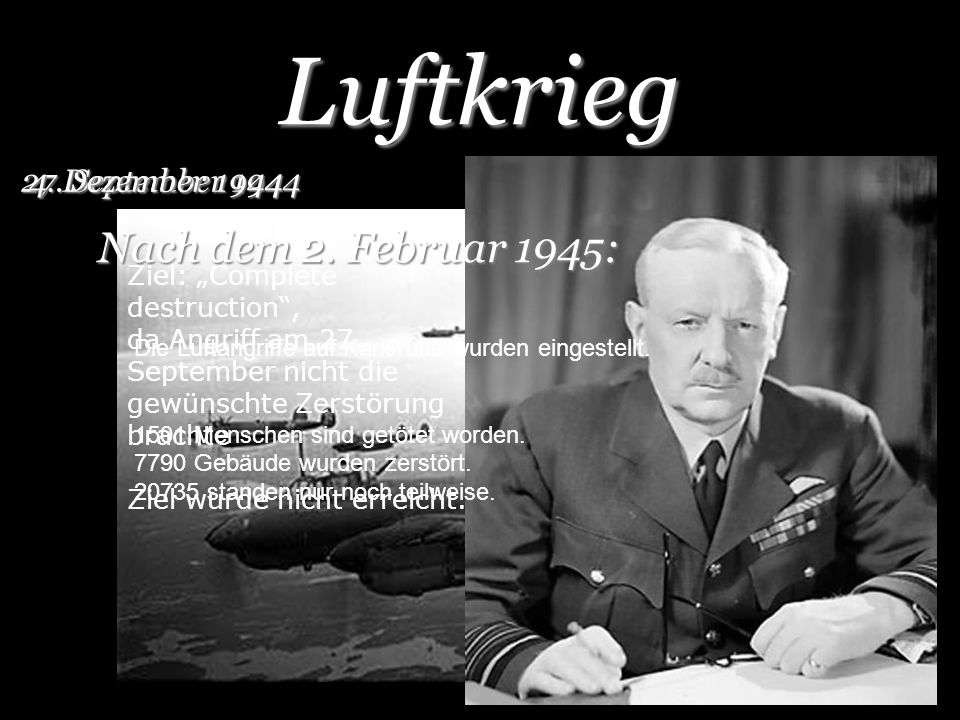 Luftkrieg Nach dem 2. Februar 1945: 27. September 1944