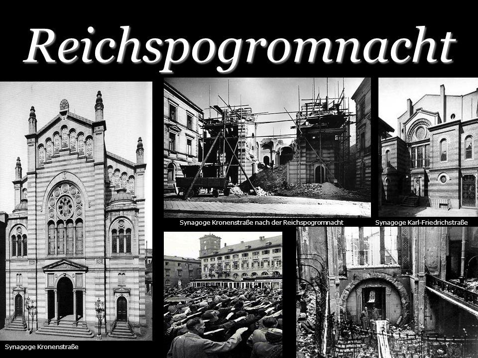 Reichspogromnacht Synagoge Kronenstraße nach der Reichspogromnacht
