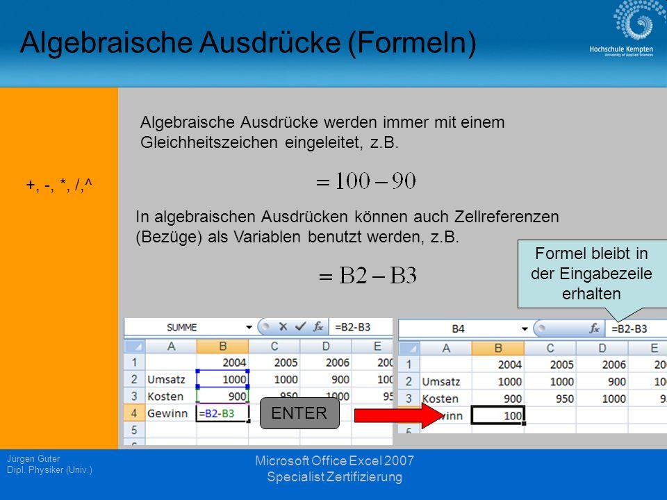 Algebraische Ausdrücke (Formeln)