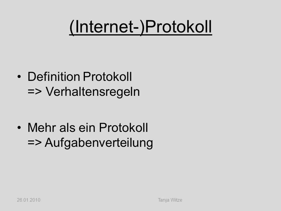 (Internet-)Protokoll