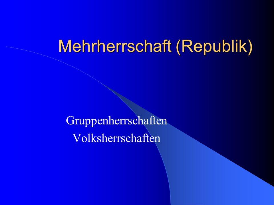 Mehrherrschaft (Republik)
