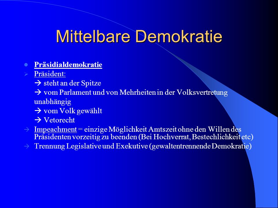 Mittelbare Demokratie