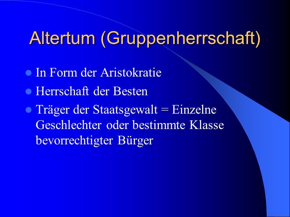 Altertum (Gruppenherrschaft)