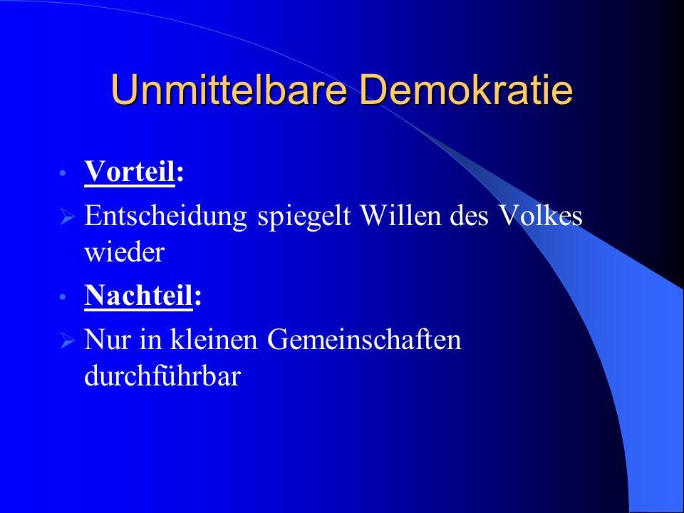Unmittelbare Demokratie
