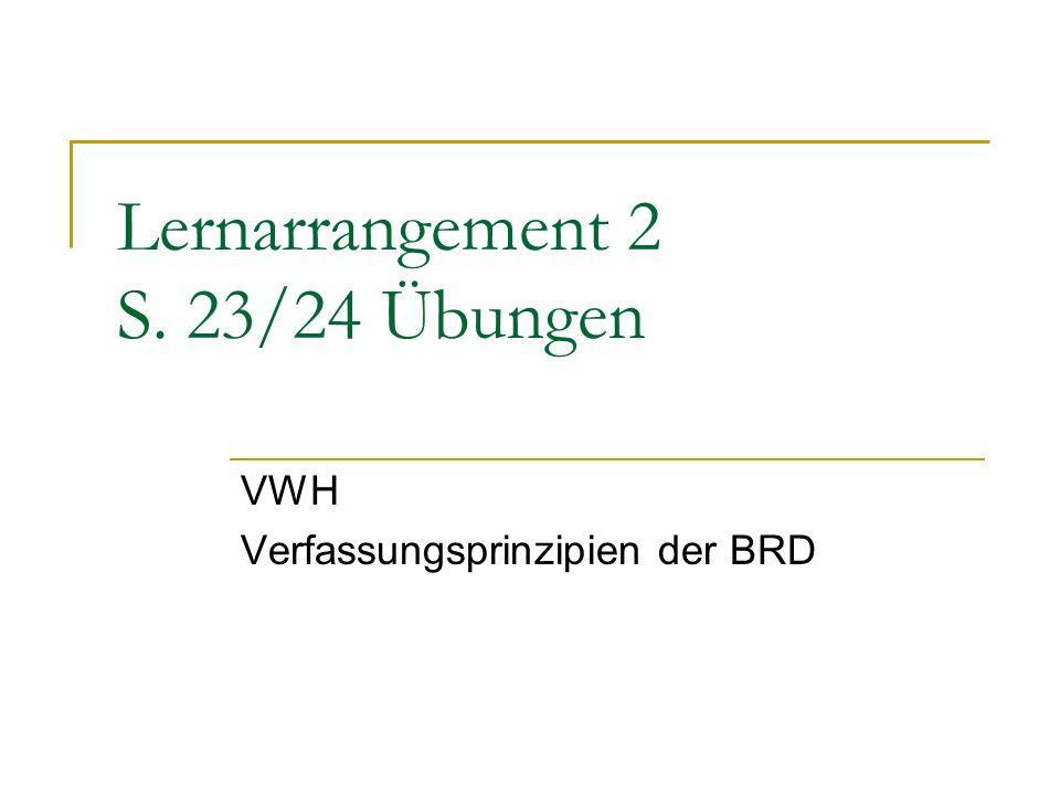 Lernarrangement 2 S. 23/24 Übungen