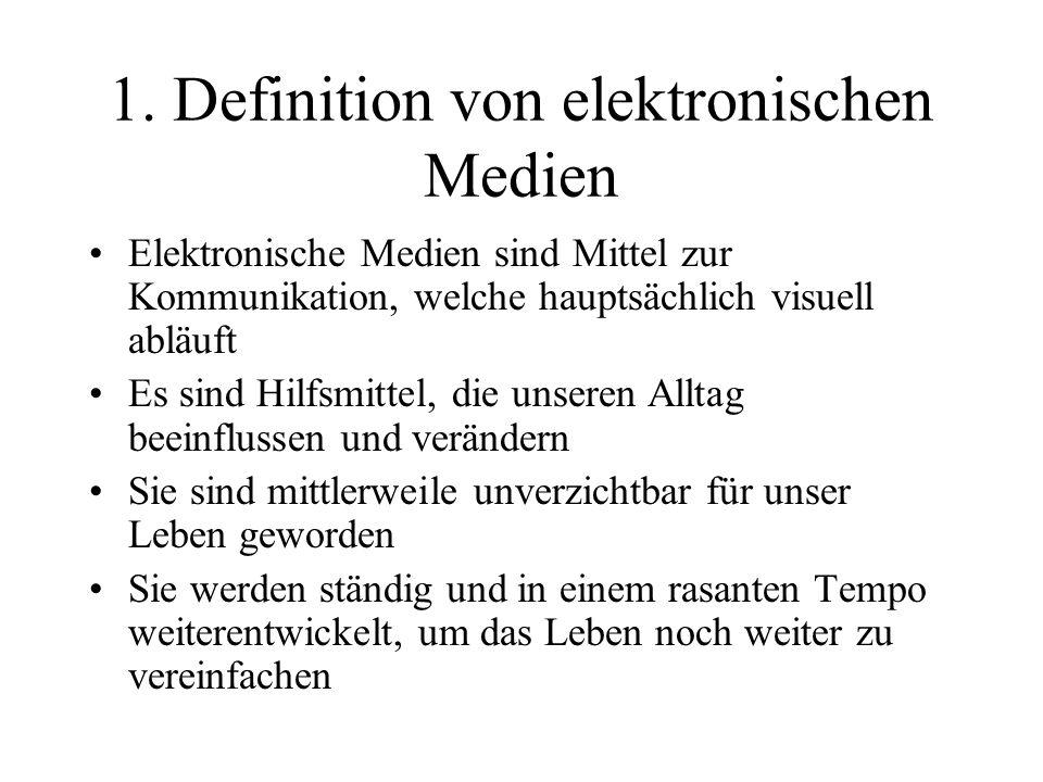 1. Definition von elektronischen Medien